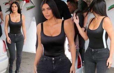Kim Kardashian khoe eo nhỏ tới ngỡ ngàng